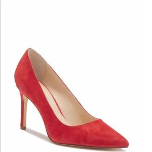 Charles David Pointed Toe Suede Pumps